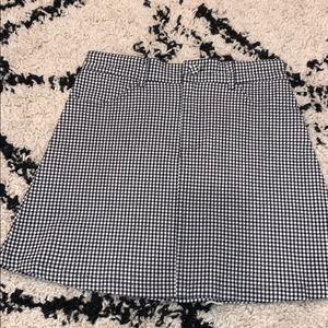 brandy melville checkered mini skirt